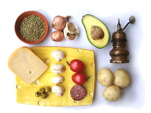 Raclette ingredients