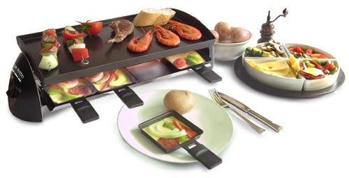 Buy this raclette grill with pancake top